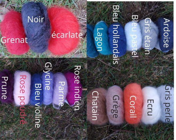 pur mohair coloris